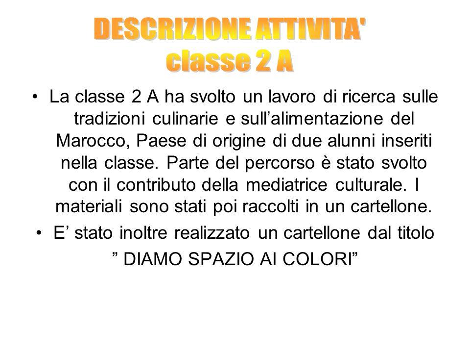 DESCRIZIONE ATTIVITA classe 2 A