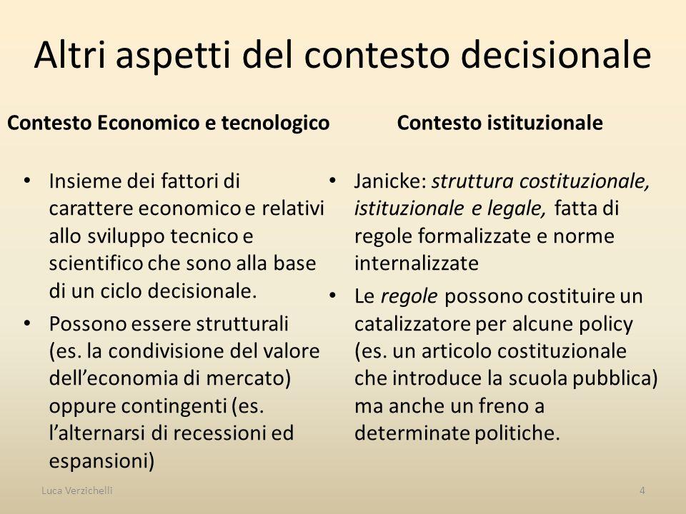 Altri aspetti del contesto decisionale