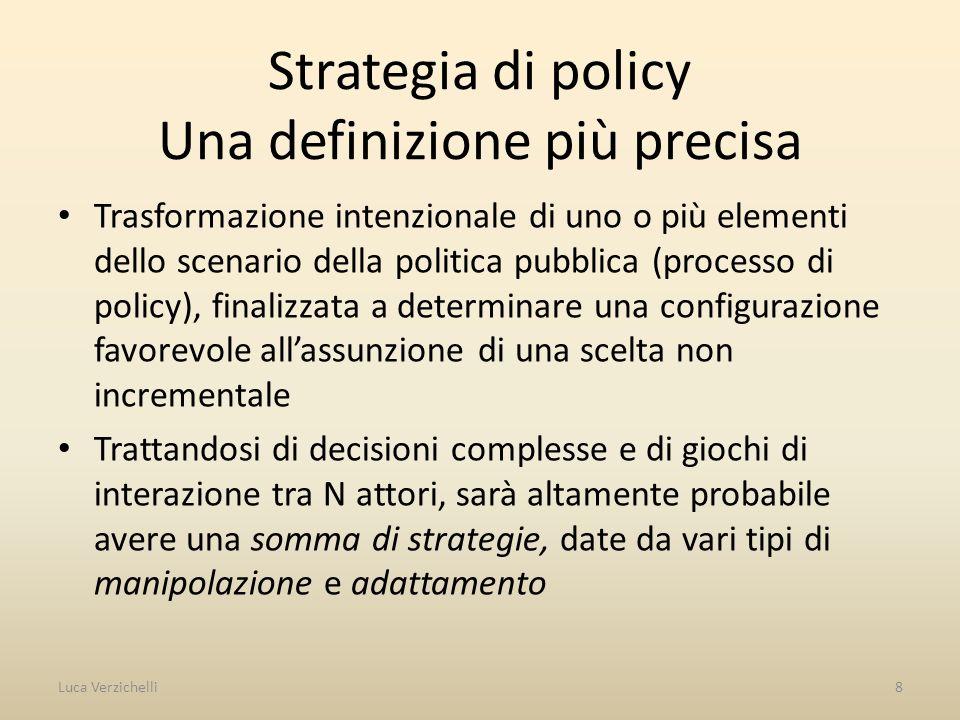 Strategia di policy Una definizione più precisa