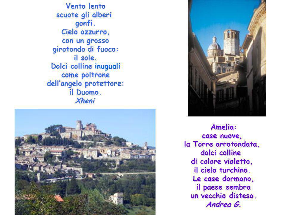 Dolci colline inuguali come poltrone dell'angelo protettore: il Duomo.