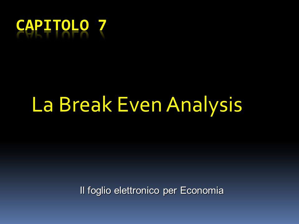 Il foglio elettronico per Economia