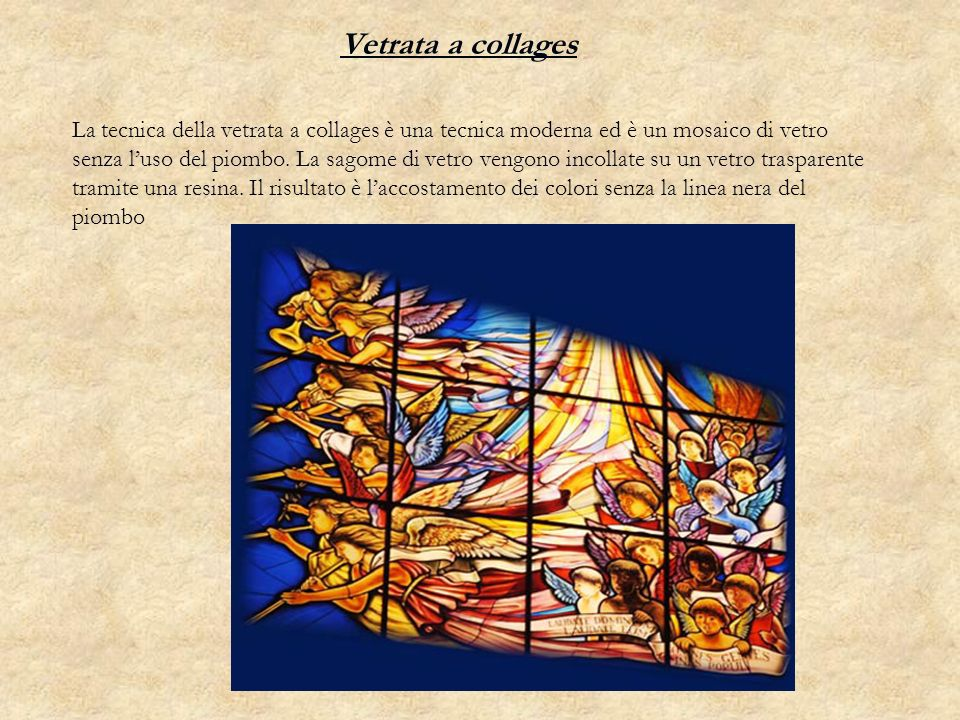Vetrata a collages