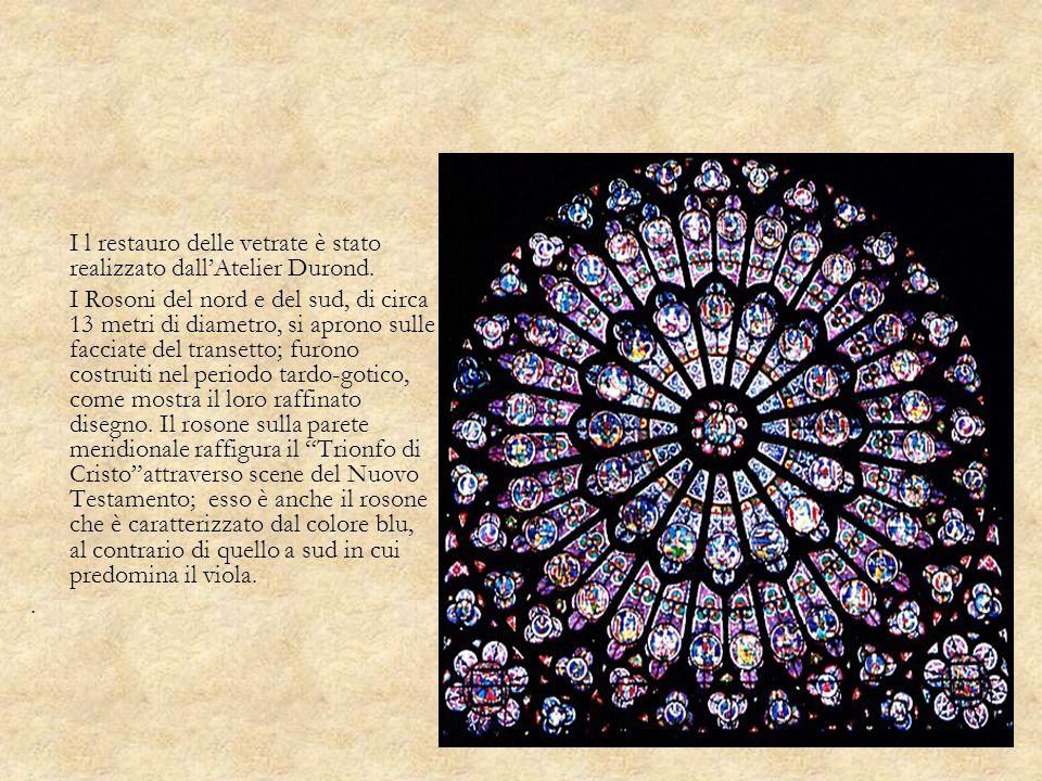 I l restauro delle vetrate è stato realizzato dall'Atelier Durond.
