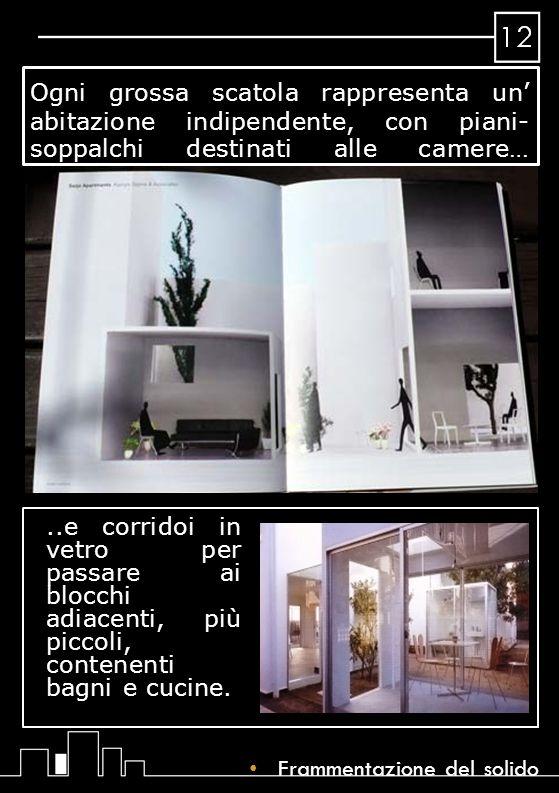 Ogni grossa scatola rappresenta un' abitazione indipendente, con piani- soppalchi destinati alle camere…