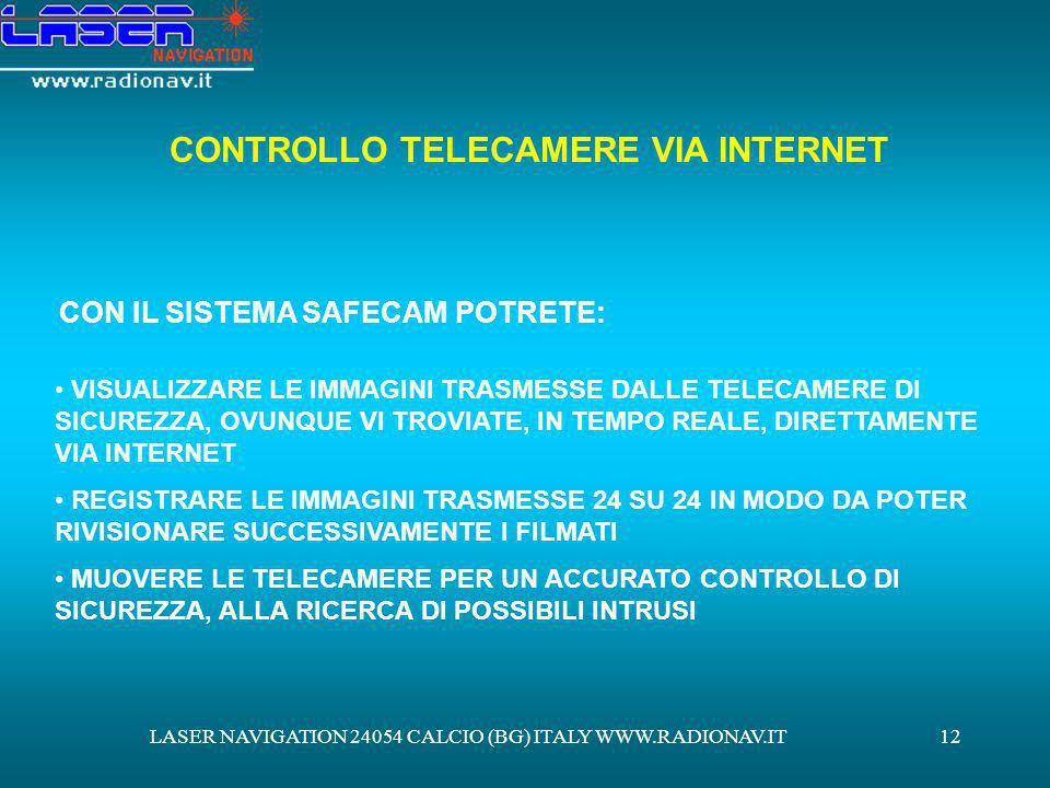 CONTROLLO TELECAMERE VIA INTERNET