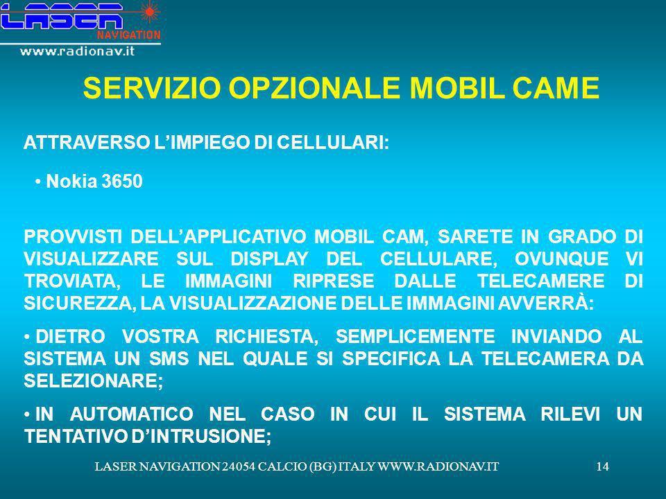 SERVIZIO OPZIONALE MOBIL CAME