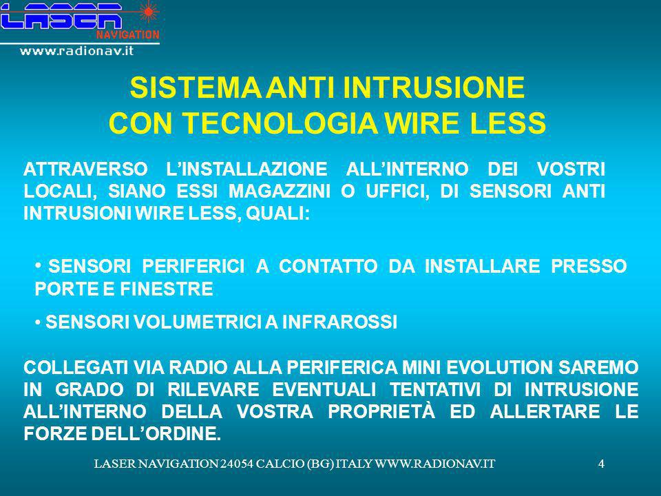 SISTEMA ANTI INTRUSIONE CON TECNOLOGIA WIRE LESS