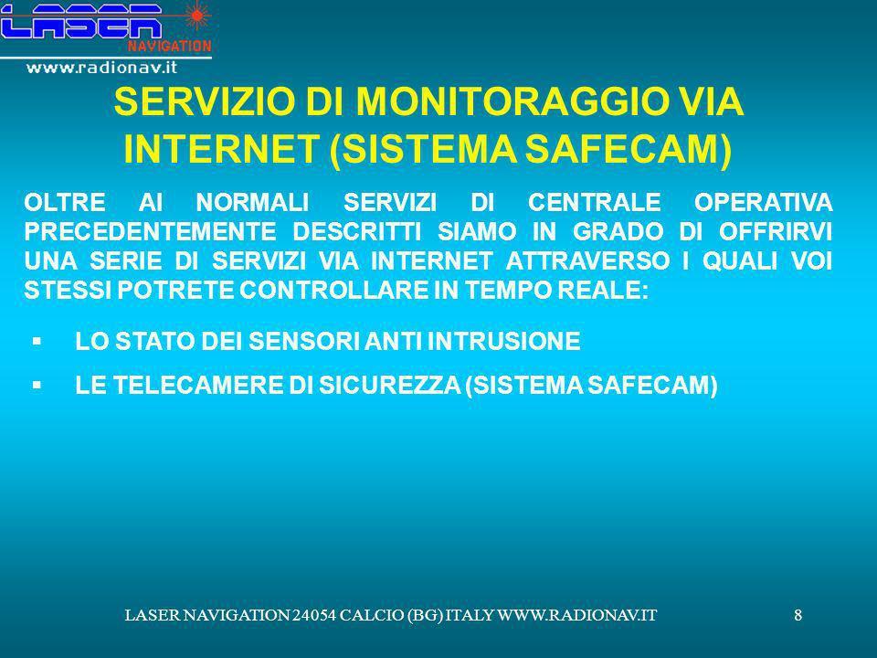 SERVIZIO DI MONITORAGGIO VIA INTERNET (SISTEMA SAFECAM)