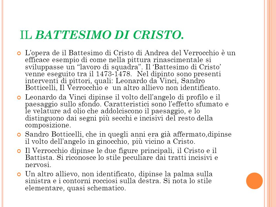IL BATTESIMO DI CRISTO.