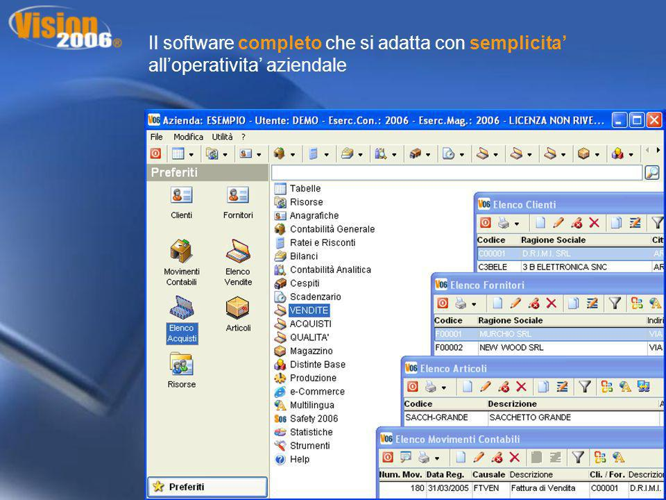 Il software completo che si adatta con semplicita' all'operativita' aziendale