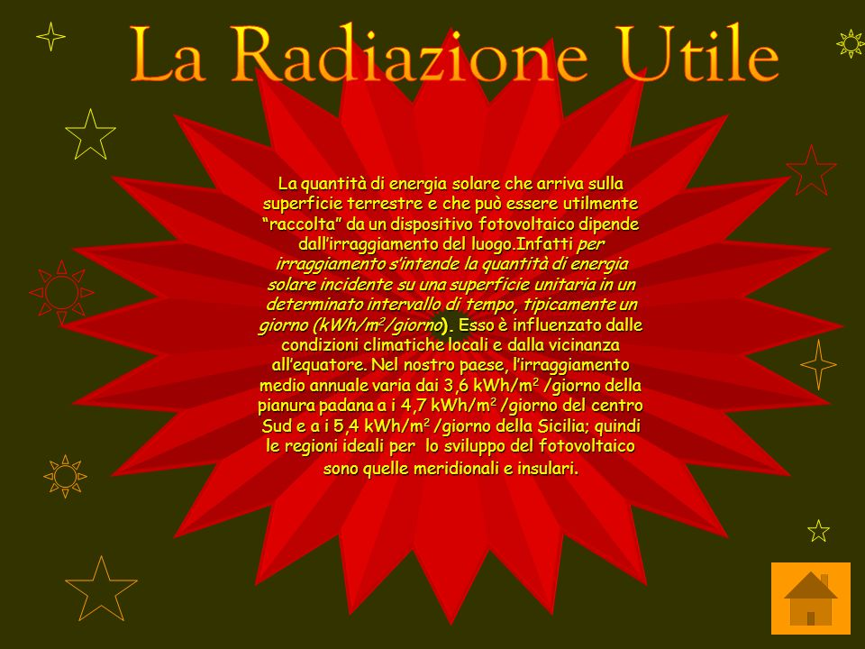 La Radiazione Utile