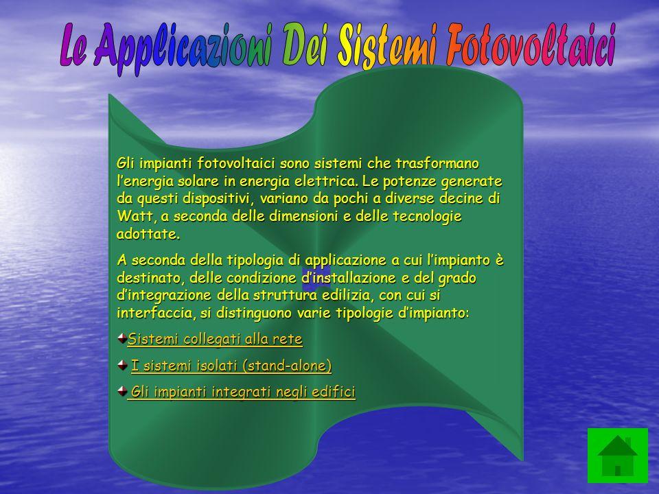 Le Applicazioni Dei Sistemi Fotovoltaici
