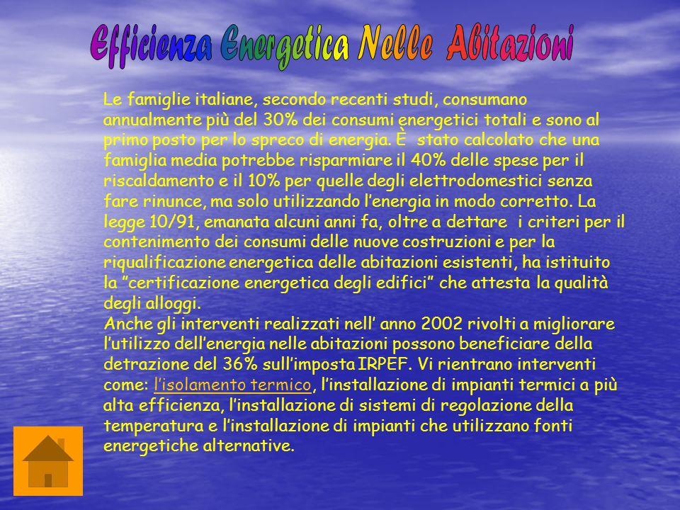 Efficienza Energetica E Isolamento Termico : Enea progetto quot sicenea educarsi al futuro classe iia