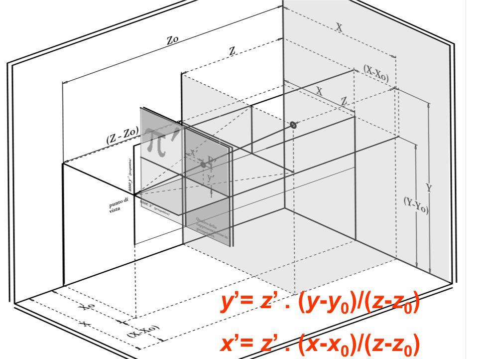y'= z' . (y-y0)/(z-z0) x'= z' . (x-x0)/(z-z0)