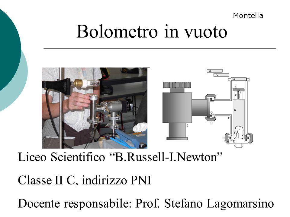 Bolometro in vuoto Liceo Scientifico B.Russell-I.Newton