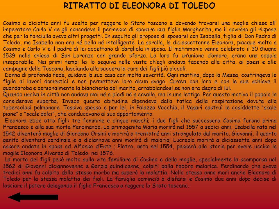 RITRATTO DI ELEONORA DI TOLEDO