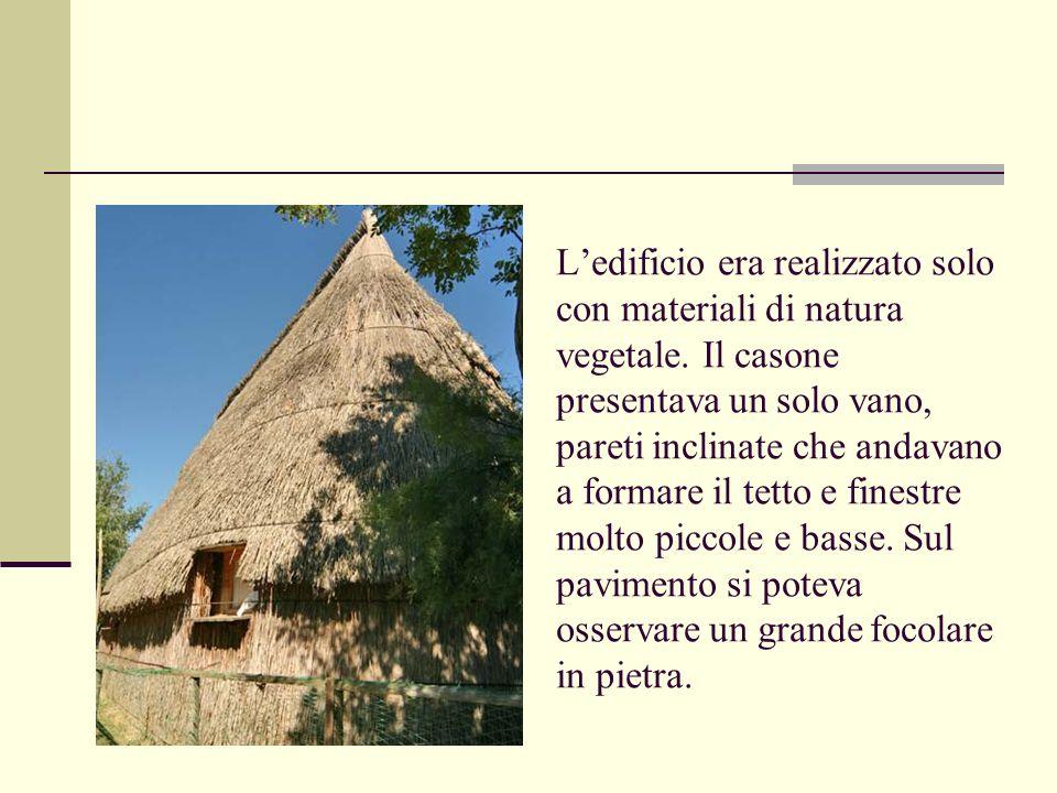 L'edificio era realizzato solo con materiali di natura vegetale