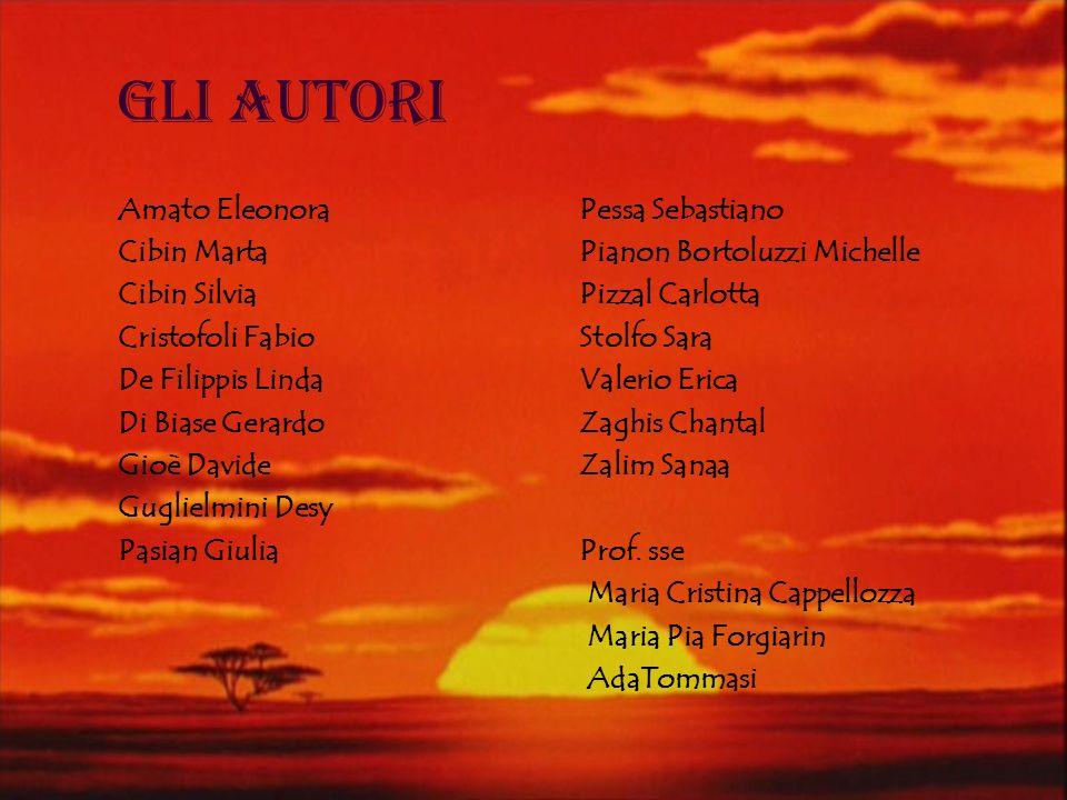 Gli Autori Amato Eleonora Cibin Marta Cibin Silvia Cristofoli Fabio