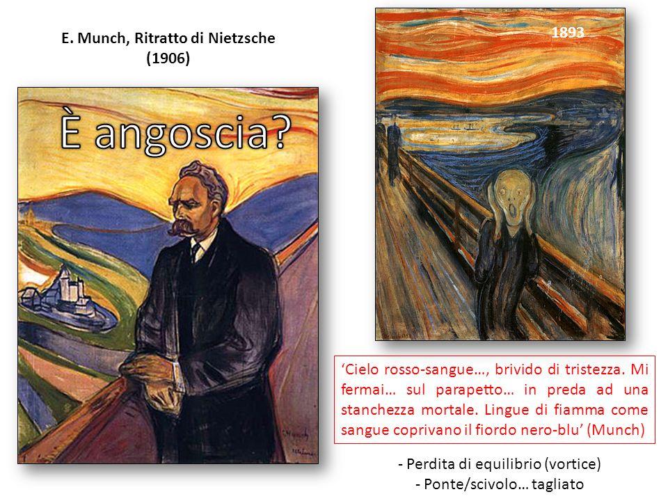 E. Munch, Ritratto di Nietzsche