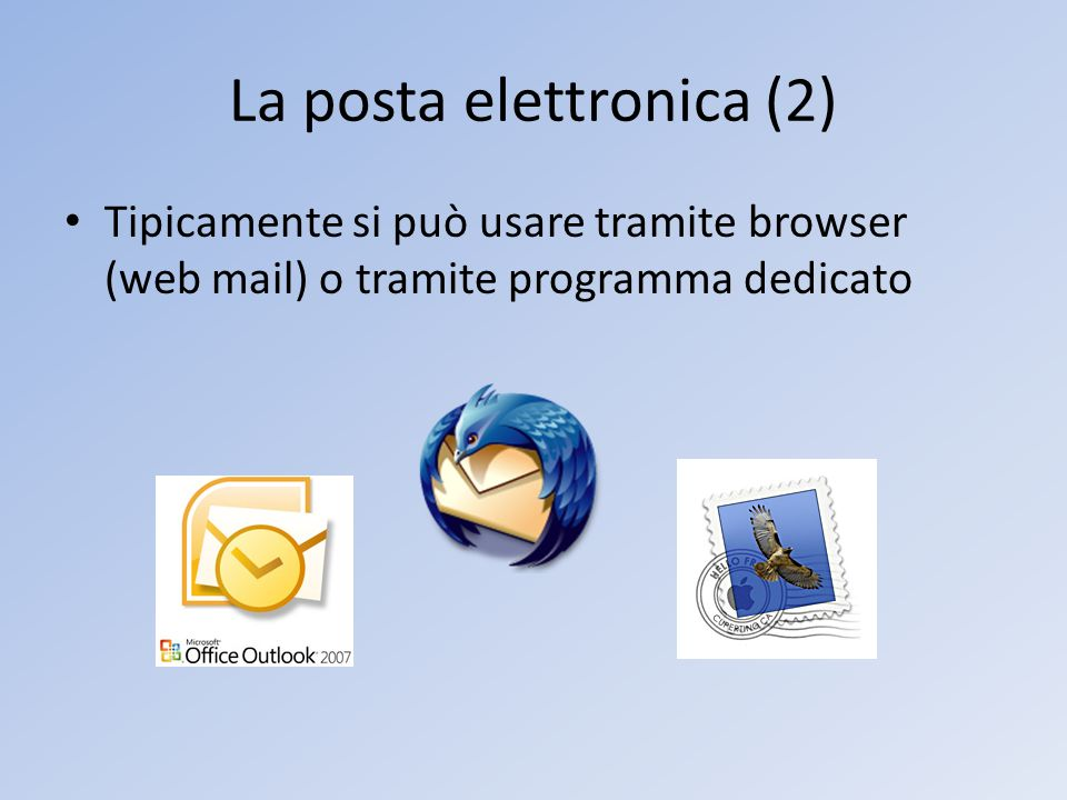 La posta elettronica (2)