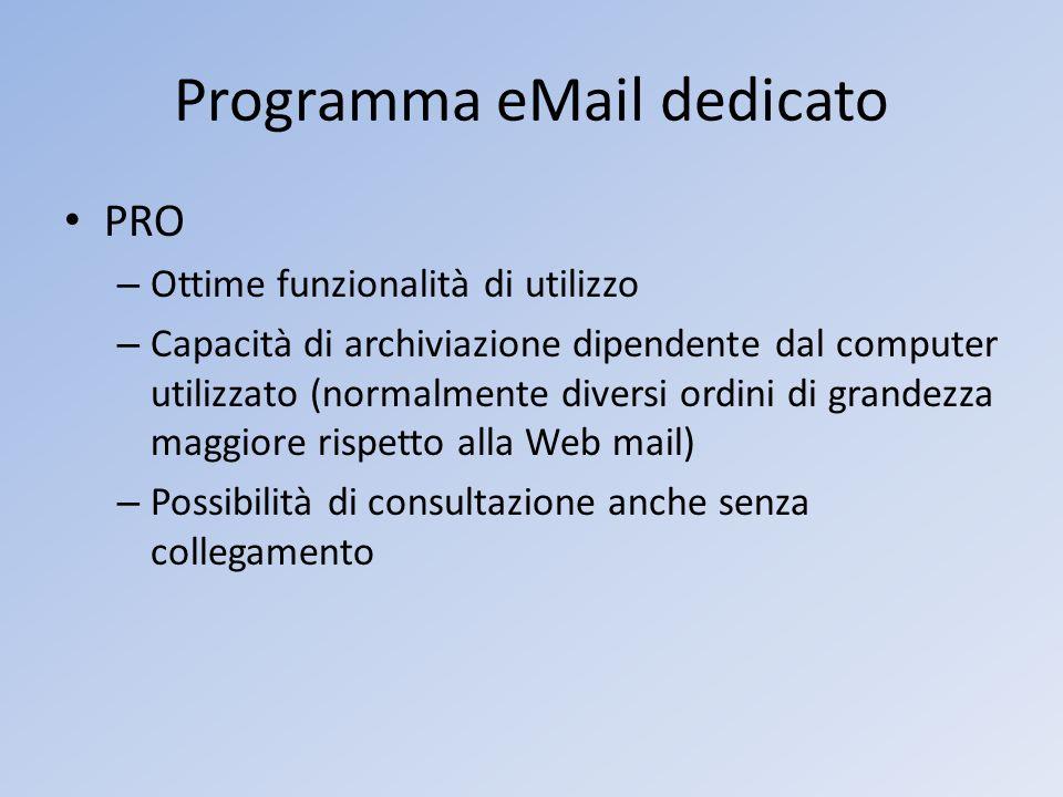 Programma eMail dedicato