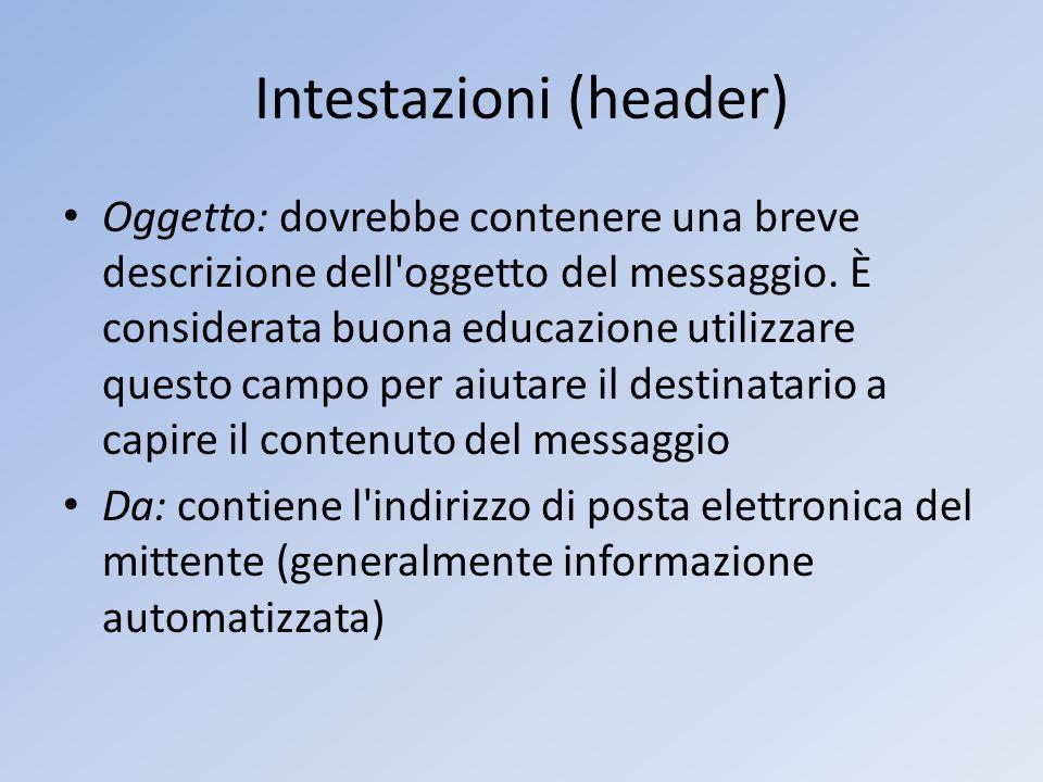 Intestazioni (header)