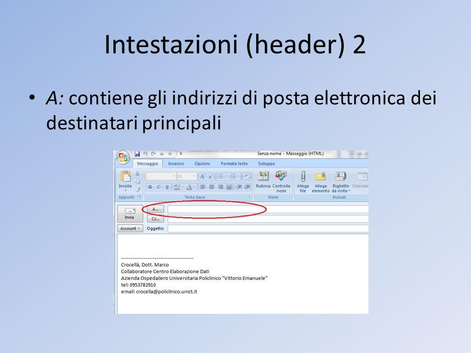 Intestazioni (header) 2