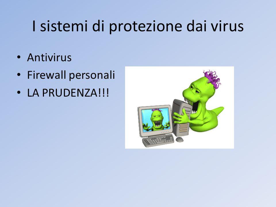 I sistemi di protezione dai virus