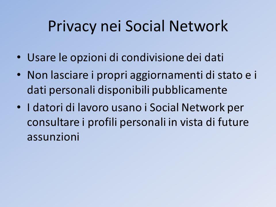 Privacy nei Social Network