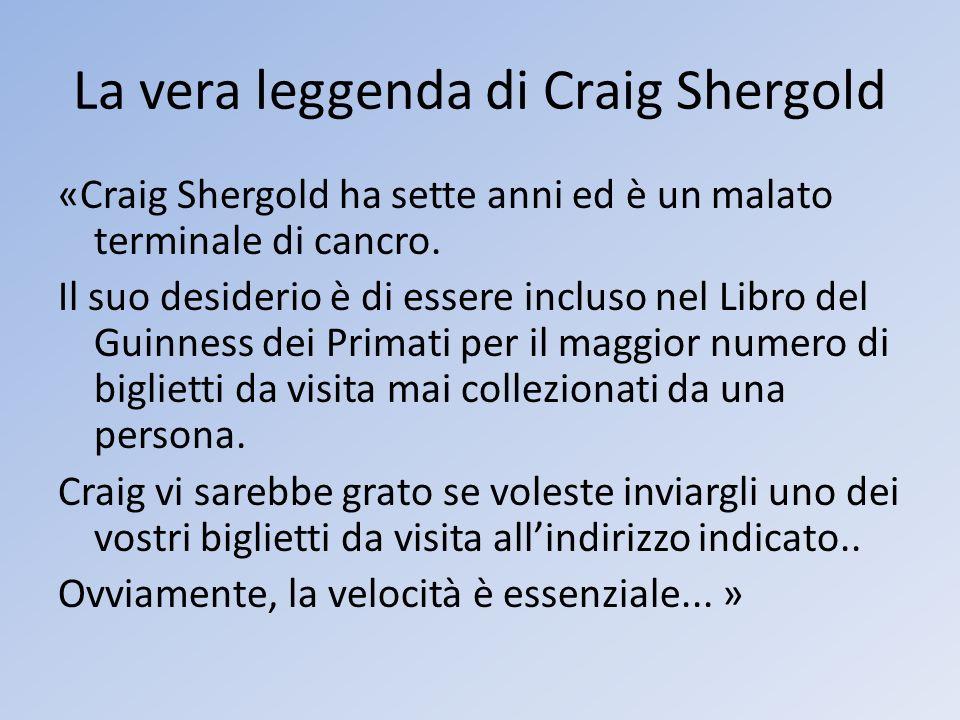 La vera leggenda di Craig Shergold
