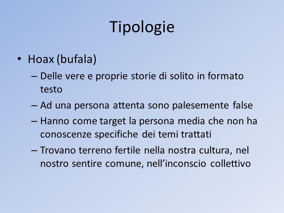 Tipologie Hoax (bufala)