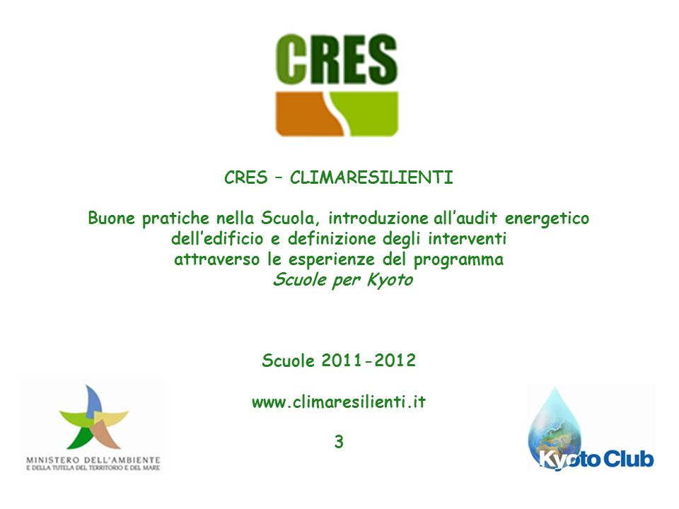 CRES – CLIMARESILIENTI attraverso le esperienze del programma