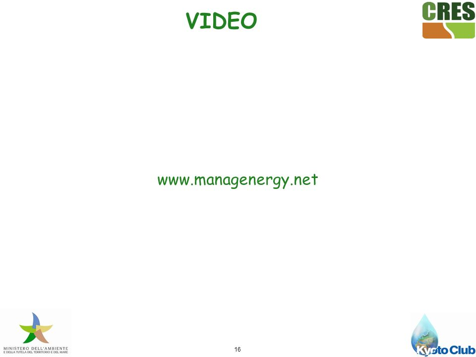 VIDEO www.managenergy.net 16