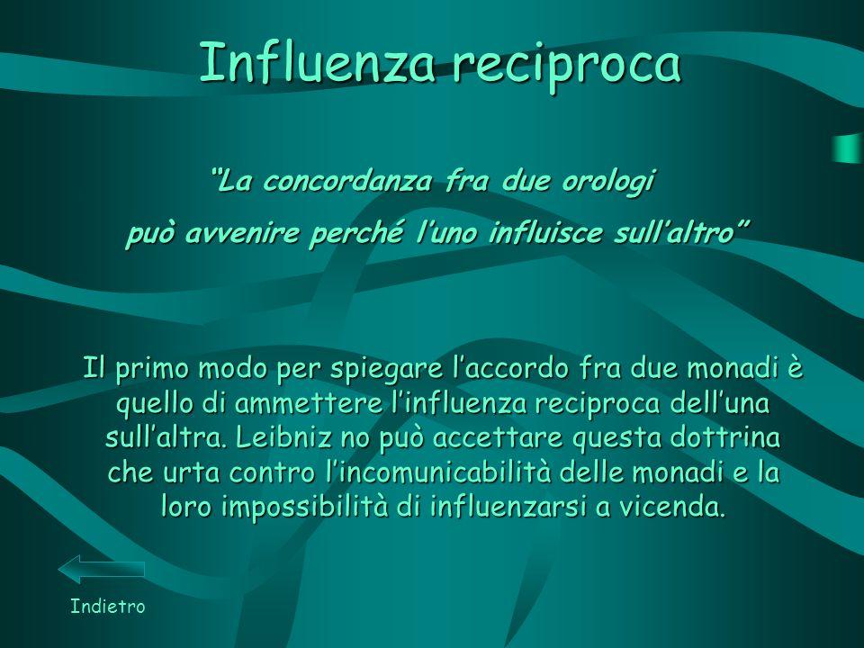 Influenza reciproca La concordanza fra due orologi
