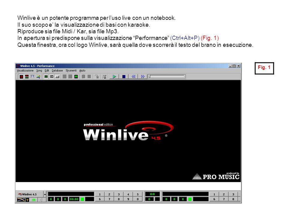 Winlive è un potente programma per l'uso live con un notebook