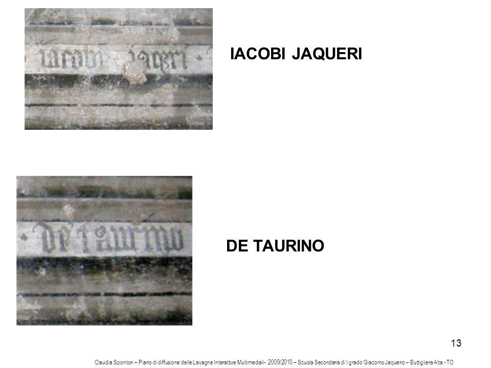 IACOBI JAQUERI DE TAURINO
