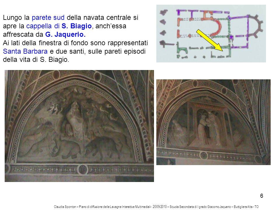 Lungo la parete sud della navata centrale si apre la cappella di S