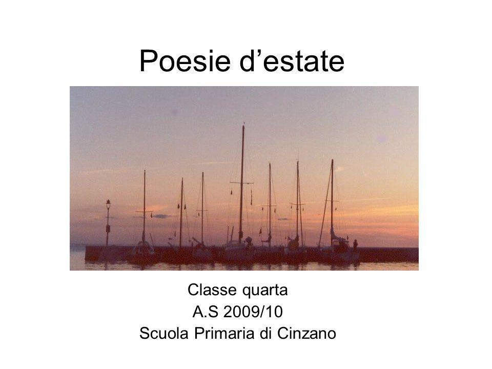 Classe quarta A.S 2009/10 Scuola Primaria di Cinzano