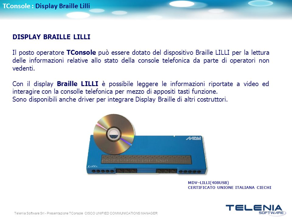 TConsole : Display Braille Lilli