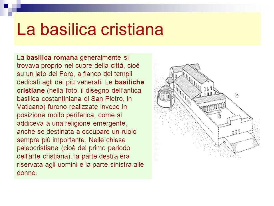 La basilica cristiana La basilica romana generalmente si