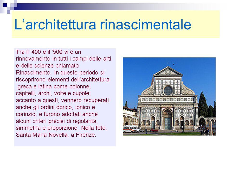 L'architettura rinascimentale