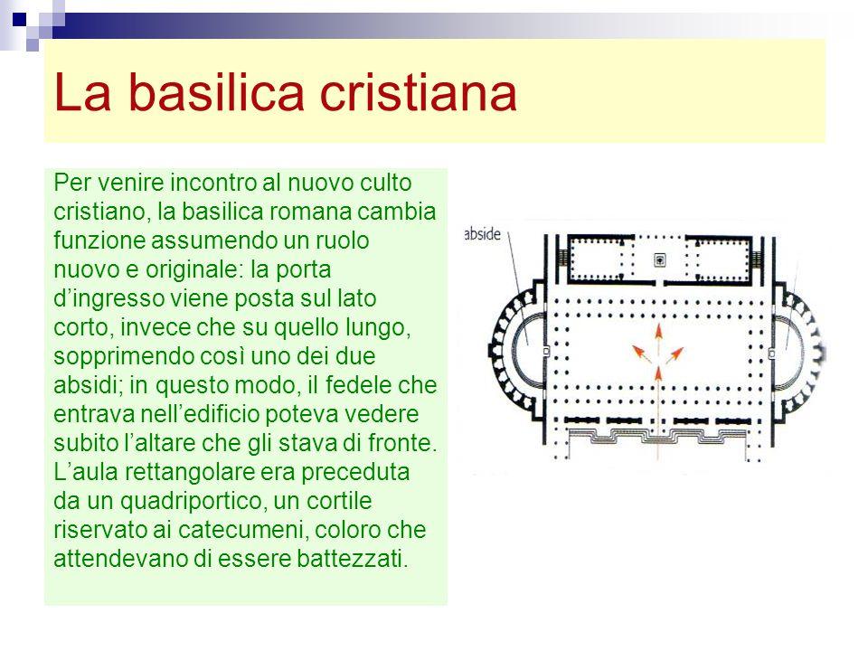 La basilica cristiana Per venire incontro al nuovo culto