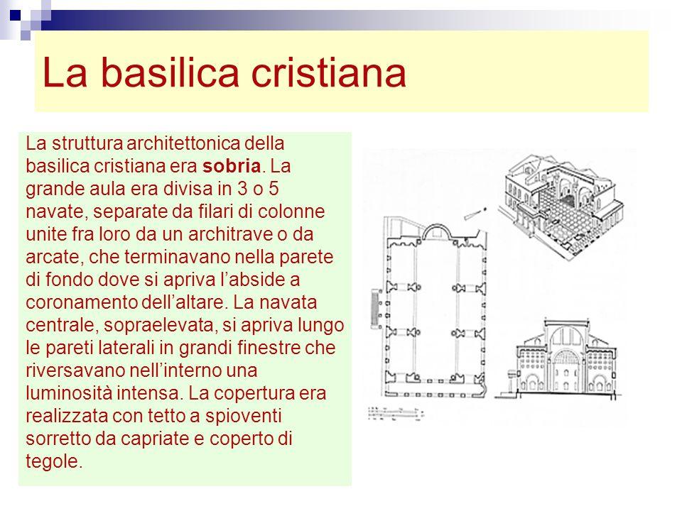 La basilica cristiana La struttura architettonica della