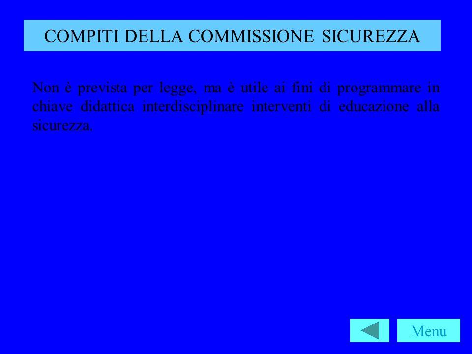 COMPITI DELLA COMMISSIONE SICUREZZA