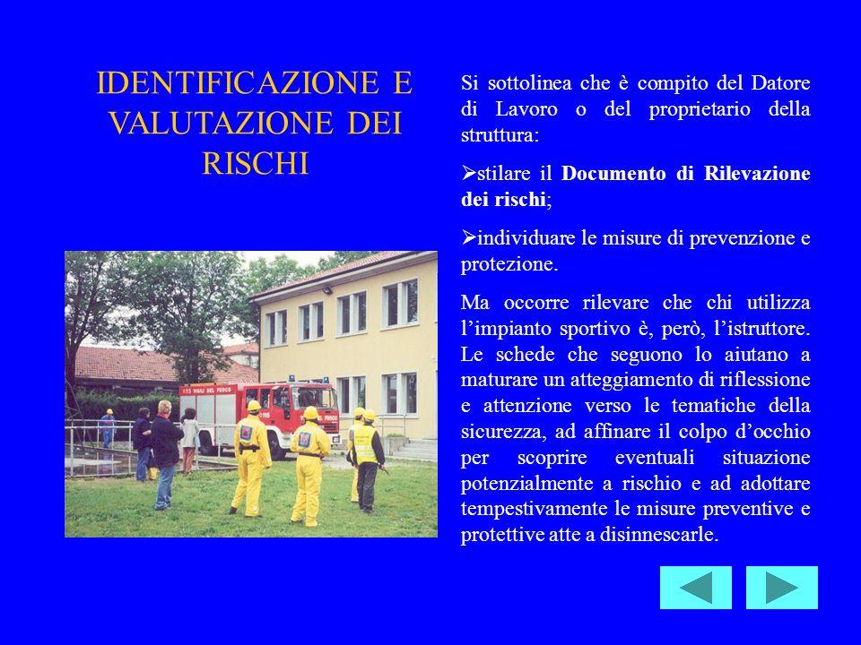 IDENTIFICAZIONE E VALUTAZIONE DEI RISCHI
