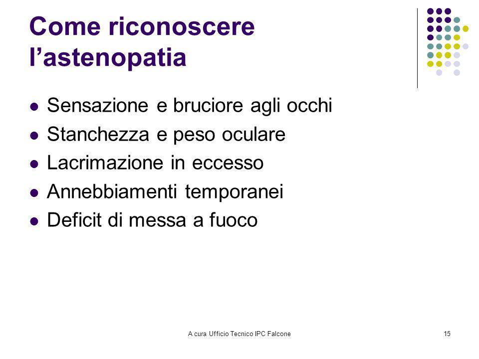 Come riconoscere l'astenopatia