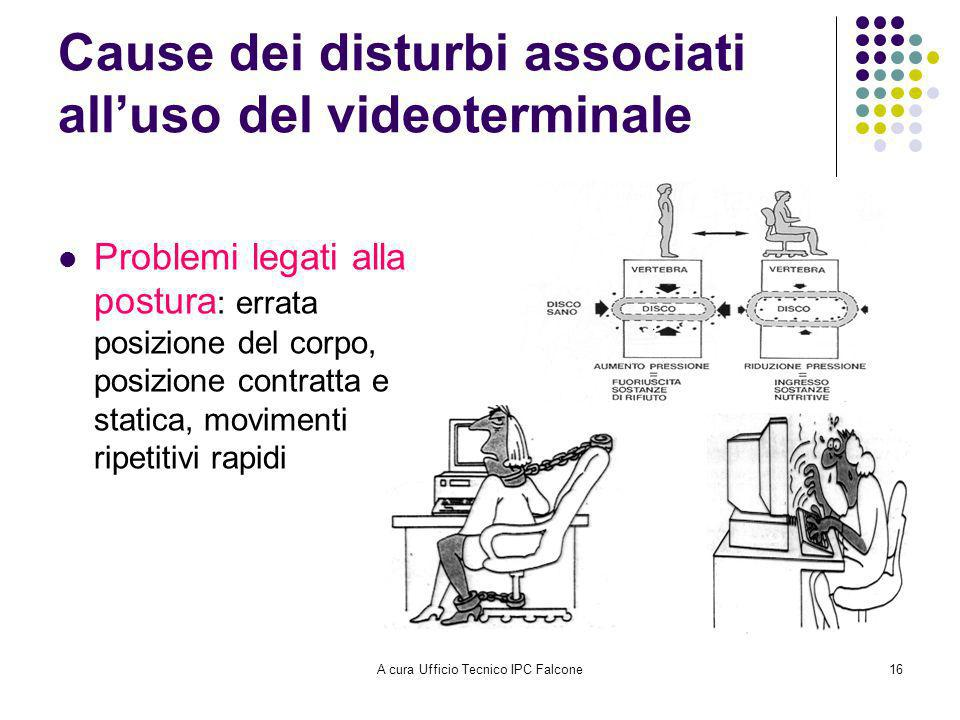 Cause dei disturbi associati all'uso del videoterminale