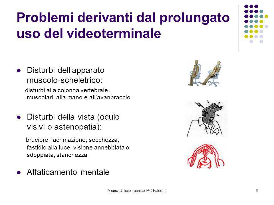 Problemi derivanti dal prolungato uso del videoterminale