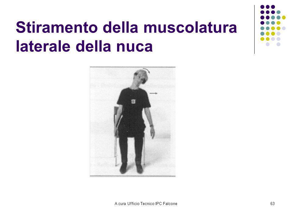 Stiramento della muscolatura laterale della nuca