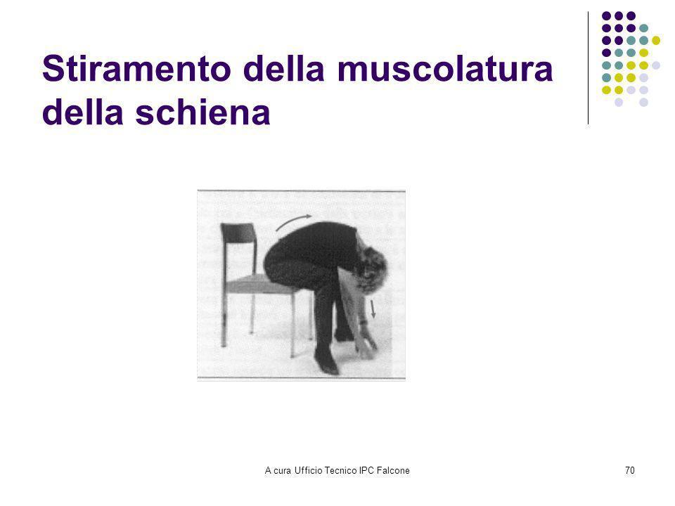 Stiramento della muscolatura della schiena